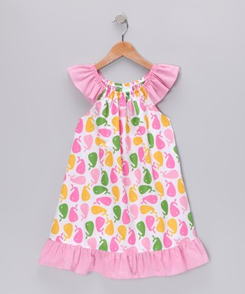 Pink Whale Angel-Sleeve Dress - Infant, Toddler & Girls