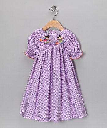 Purple Witch Bishop Dress - Infant, Toddler & Girls