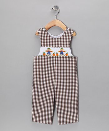 Brown Scarecrow Overalls - Infant