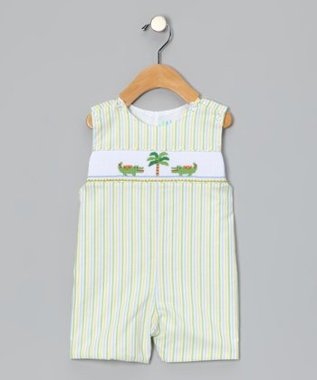Green Stripe Gator John Johns - Infant