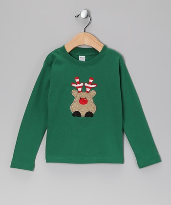 Green Rudolph Tee - Toddler