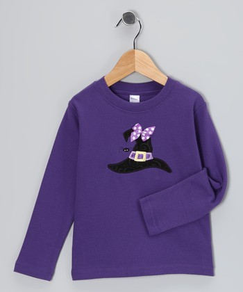 Purple Witch Hat Tee - Toddler