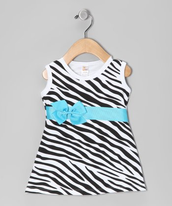 Zebra Bow Dress - Infant, Toddler & Girls