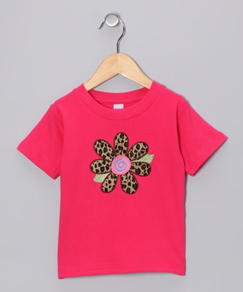 Fuchsia Leopard Flower Tee - Toddler