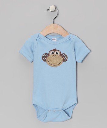 Blue Monkey Bodysuit - Infant