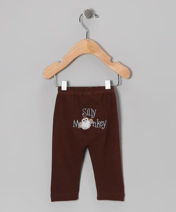 Brown 'Silly Monkey' Pants - Infant & Toddler