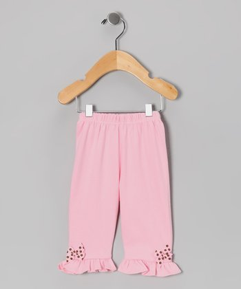 Pink Polka Dot Bow Pants & Toddler - Infant