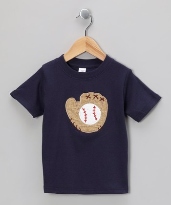Navy Baseball Glove Tee - Toddler