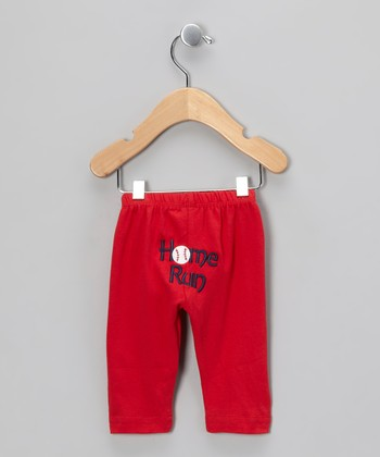 Red 'Home Run' Pants - Infant & Toddler