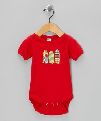 Red Surfboard Bodysuit - Infant