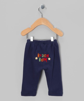 Navy 'Beach Bum' Pants - Infant & Toddler