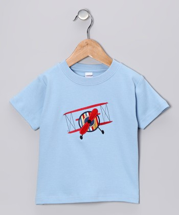 Blue Airplane Tee - Toddler