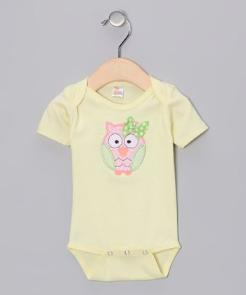 Yellow Owl Bodysuit - Infant