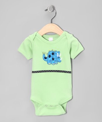 Green Dinosaur Bodysuit - Infant