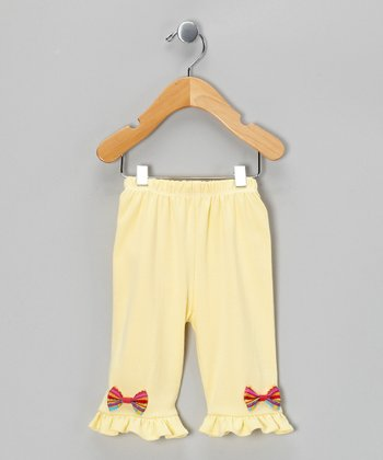 Yellow & Red Bow Pants