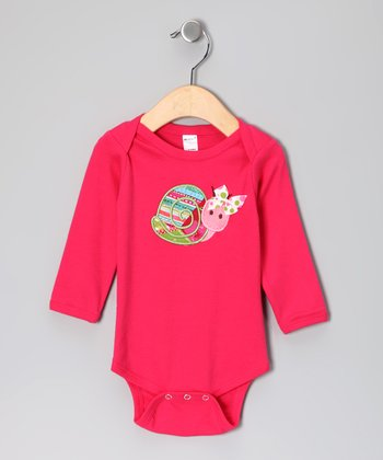 Fuchsia Snail Bodysuit - Infant