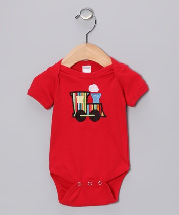 Red Train Bodysuit - Infant
