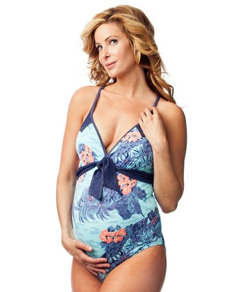 Blue Hawaii Maternity One-Piece - Women