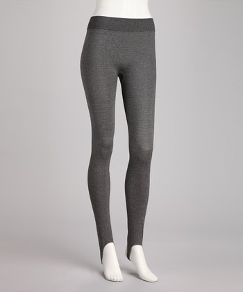 Nero Melange Stirrup Leggings