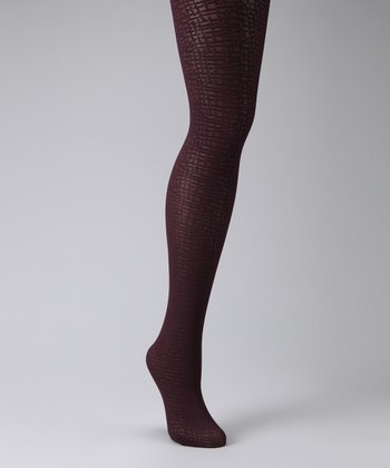 Bordeaux Pattern Tights