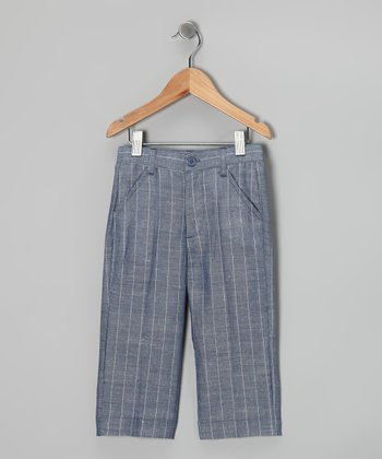 Light Blue Stripe Pants - Toddler & Boys
