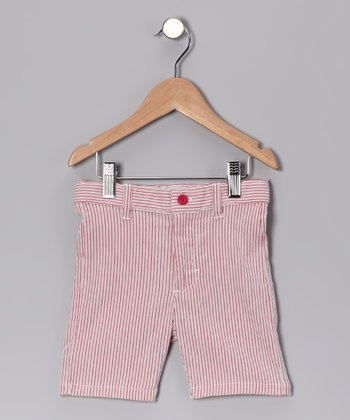 Red Stripe Shorts - Toddler & Kids