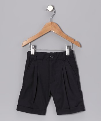 Navy Cuffed Shorts - Toddler & Kids