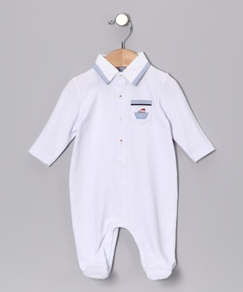 White Boat Polo Footie - Infant