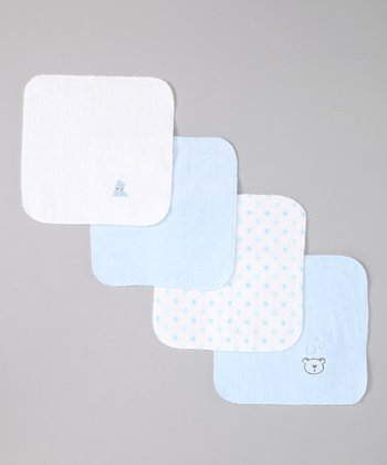 Blue Bear Deluxe Washcloth Set