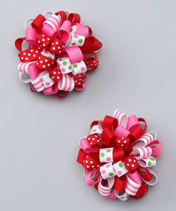 Pink & Red Cutie Clip - Set of Two