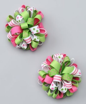 Pink & Green Cutie Clip - Set of Two