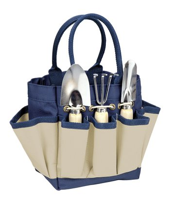 Navy & Cream Small Garden Tote