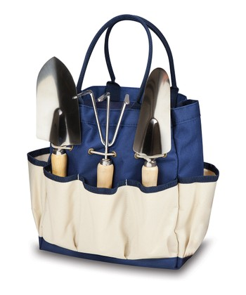 Navy & Cream Large Garden Tote
