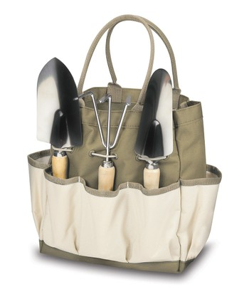 Khaki & Cream Large Garden Tote