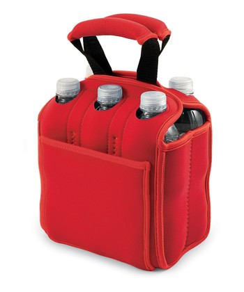 Red Insulated Six-Pack Carrier