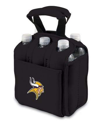 Black Minnesota Vikings Insulated Six-Pack Carrier