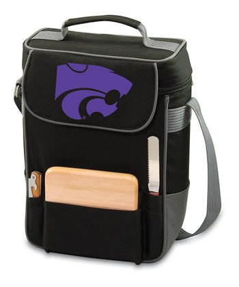 Black Kansas State Duet Insulated Tote