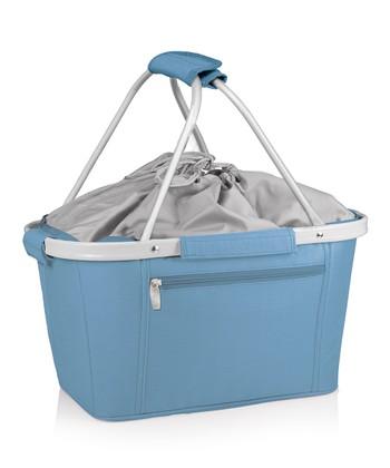 Picnic Time Vista Blue Metro Basket