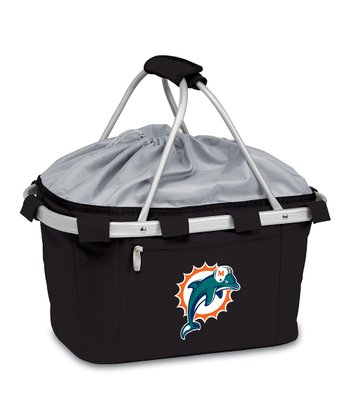 Black Miami Dolphins Metro Basket