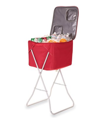 Red Party Cube Portable Party Cooler