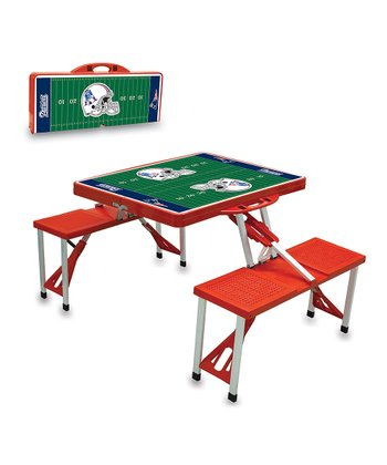 Red New England Patriots Picnic Table