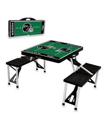 Black Baltimore Ravens Picnic Table