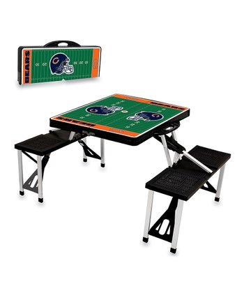 Black Chicago Bears Picnic Table