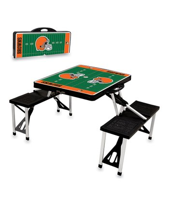 Black Cleveland Browns Picnic Table