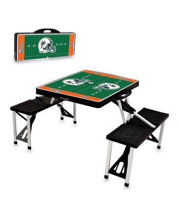 Black Miami Dolphins Picnic Table