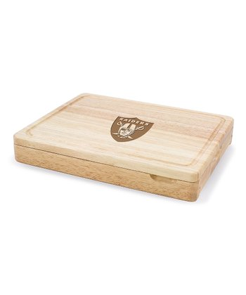 Oakland Raiders Asiago Cutting Board Set