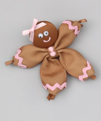 Brown Gingerbread Girl Clip