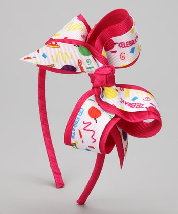 Pink & Yellow Celebration Balloon Bow
