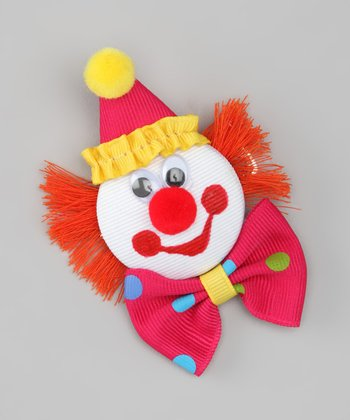 Shocking Pink Party Clown Clip