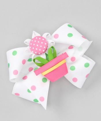 Pink Flowerpot Clip Set